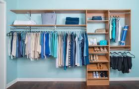 organized living closets u0026 storage for contractors wood shelf u0026 rod