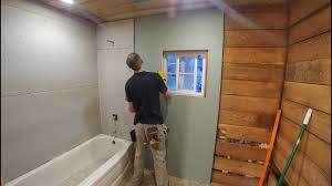 bathroom drywall and backer board youtube