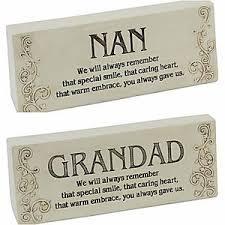graveside memorial block plaques nan grandad