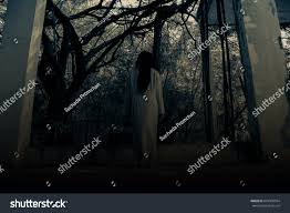 halloween haunted house background scary ghost woman haunted house horror stock photo 661909954