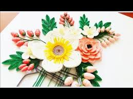 Paper Flowers Video - paper quilling flower for beginner learning video 24 paper
