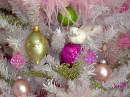 christmas tree pink ornaments christmas lights decoration