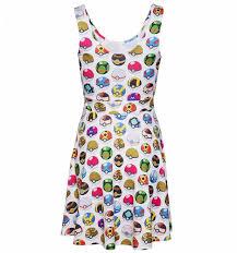 white pokemon pokeball all over print skater dress