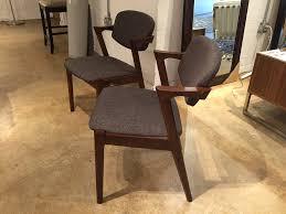 kai kristiansen style z mid century modern upholstered dining side