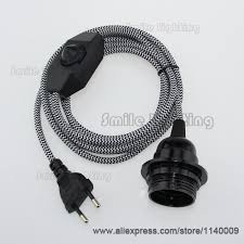 pendant light cord with switch 2m ce vde certified pendant l cord sets euro plug with dimmer