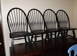 Black Windsor Chairs Brohill Attic Heirloom Windsor Chairs In Black