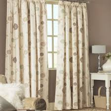Floral Lined Curtains Dreams N Drapes Rosemont Floral Print Pencil Pleat Lined
