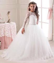 1st communion dresses hot sale 2016 sleeve flower girl dresses for weddings lace