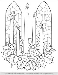 advent wreath christ candle coloring page advent u0026 christmas
