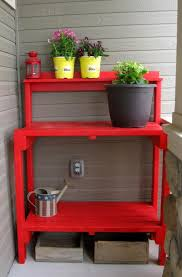 Redwood Potting Bench Ana White Simple Potting Bench Diy Projects