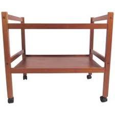 Teak Bar Cabinet Erik Buch Portable Bar Cabinet Or Bar Cart On Casters Teak All