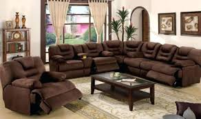 Power Sectional Sofa Sectional Sofa With Recliner And Chaise Brown Leather Reclining