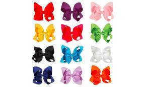ribbon boutique 12pcs hair bows for large grosgrain ribbon boutique hair