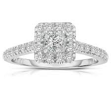 princess cut engagement rings white gold half carat princess cut halo engagement ring in white gold