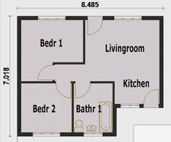 2 bedroom house plan small house plans in south africa two bedroomed homes zone