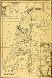 Map Of Canaan The Project Gutenberg Ebook Of Studies In Old Testament History