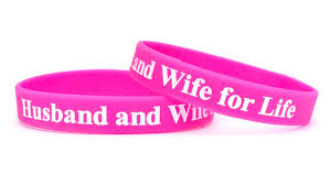 pink silicone bracelet images Husband and wife for life shop jpg