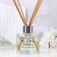 Wedding Gift Set Personalised Wedding Reed Diffuser Gift Set By Olivia Morgan Ltd