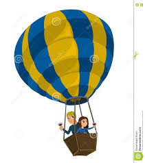 cartoon white wine couple in a air balloon cartoon stock vector image 79064633