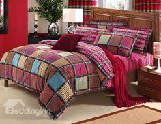 Cotton Bedding Sets Colorful Feathers Print 4 Cotton Bedding Sets