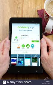 android pay app android pay digital wallet app shown on a tablet computer dorset