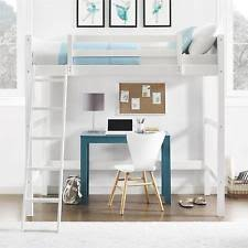loft bed with desk ebay