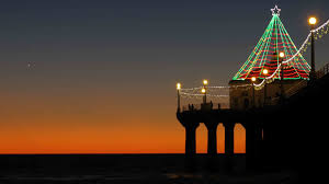 manhattan beach pier lighting 2017 manhattan beach christmas sunset mountain high