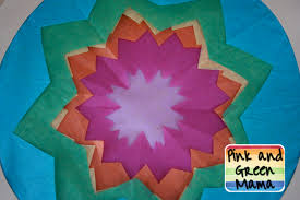 pink and green mama kid u0027s craft cut tissue paper stained glass
