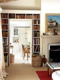 Bookshelf Around Fireplace Wall Of Bookcases Around Doorway Makes A Huge Difference Home