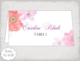 Design Your Own Place Cards Place Card Template Flower Garden Tent Name Cards