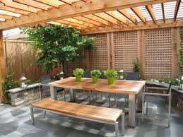 Pergola Corner Designs by Outdoor Patio Ideas With Fireplace Patio Corner Privacy Fence