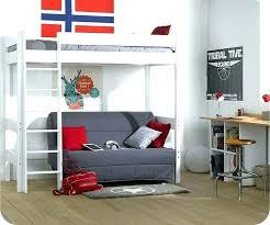 lit mezzanine avec canapé convertible fixé lit mezzanine avec canape convertible fixe canape lit superpose