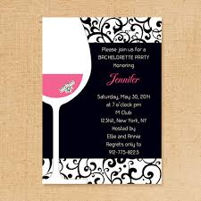 theme invitations pink and black wine themed bachelorette invitation ideas ewbi018