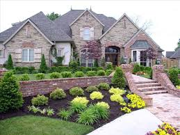 front landscaping front of house colonial yard landscaping ideas