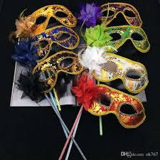 party mask new party masks gold cloth coated flower side venetian masquerade