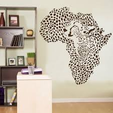 popular african wall art decor buy cheap african wall art decor wild african animal leopard cheetah wall decal vinyl art decor sticker 56x60cm wall stickers for kids
