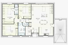 plan maison en l plain pied 3 chambres plan maison neuve gratuit 4 chambres plain pied l gant r 1