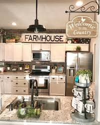 kitchen top cabinets decor farmhouse decor above kitchen cabinets decor