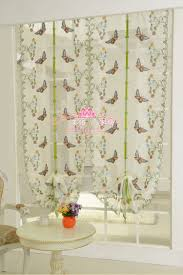 butterfly lace curtain for kitchen window voile curtains sheer