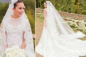 top 10 prettiest celebrity wedding gowns spot ph