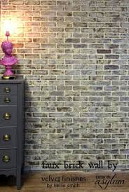 Fake Exposed Brick Wall Before And After Lowes Brick Panel Painted White Brick Backsplash