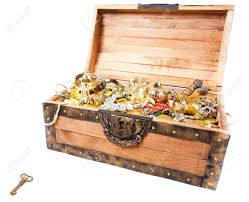 pirate treasure chest isolated on white stock photo picture and