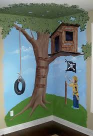 69 best wall murals images on pinterest wall murals bedroom hand painted tree house mural 7 x 7 custom designed personalized with