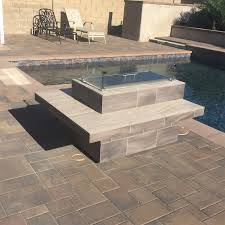 modern furniture stores orange county modern rectangle faux wood tile fire pit w wind guard outdoor