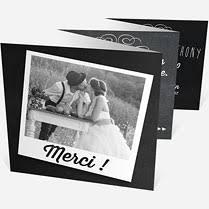 remerciement mariage original remerciements mariage accordéon sur monfairepart