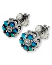 blue diamond stud earrings earrings