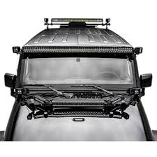 Black Led Light Bar by Zroadz Z344813 Kit Jeep Wrangler Hood Mount 1 20