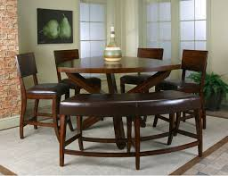 bar height dining table with bench home design ideas