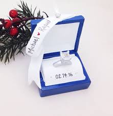 engagement ring personalized ornament engagement
