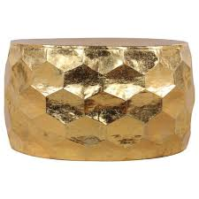 gold drum coffee table hammered gold leaf round drum coffee table
